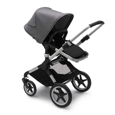 Bugaboo Fox2 Pushchair - Grey Melange-Strollers-Aluminium-Black- Natural Baby Shower
