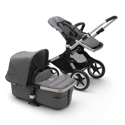Bugaboo Fox2 Pushchair - Grey Melange-Strollers-Aluminium-Grey Melange- Natural Baby Shower