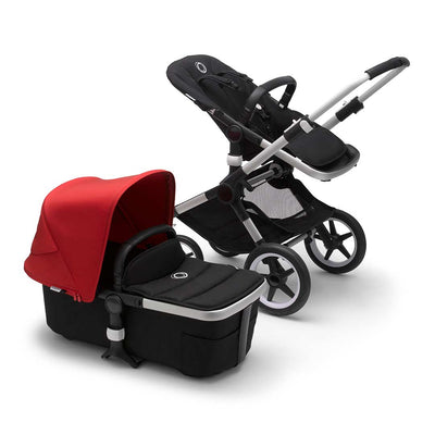 Bugaboo Fox2 Pushchair - Red-Strollers-Aluminium-Black- Natural Baby Shower