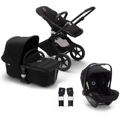 Bugaboo Fox2 Turtle Travel System - Black-Travel Systems-No Base- Natural Baby Shower