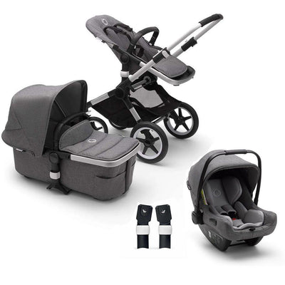 Bugaboo Fox2 Turtle Travel System - Grey Melange-Travel Systems-Grey-No Base- Natural Baby Shower