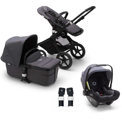 Bugaboo Fox2 Turtle Travel System - Steel Blue-Travel Systems-Steel Blue-No Base- Natural Baby Shower
