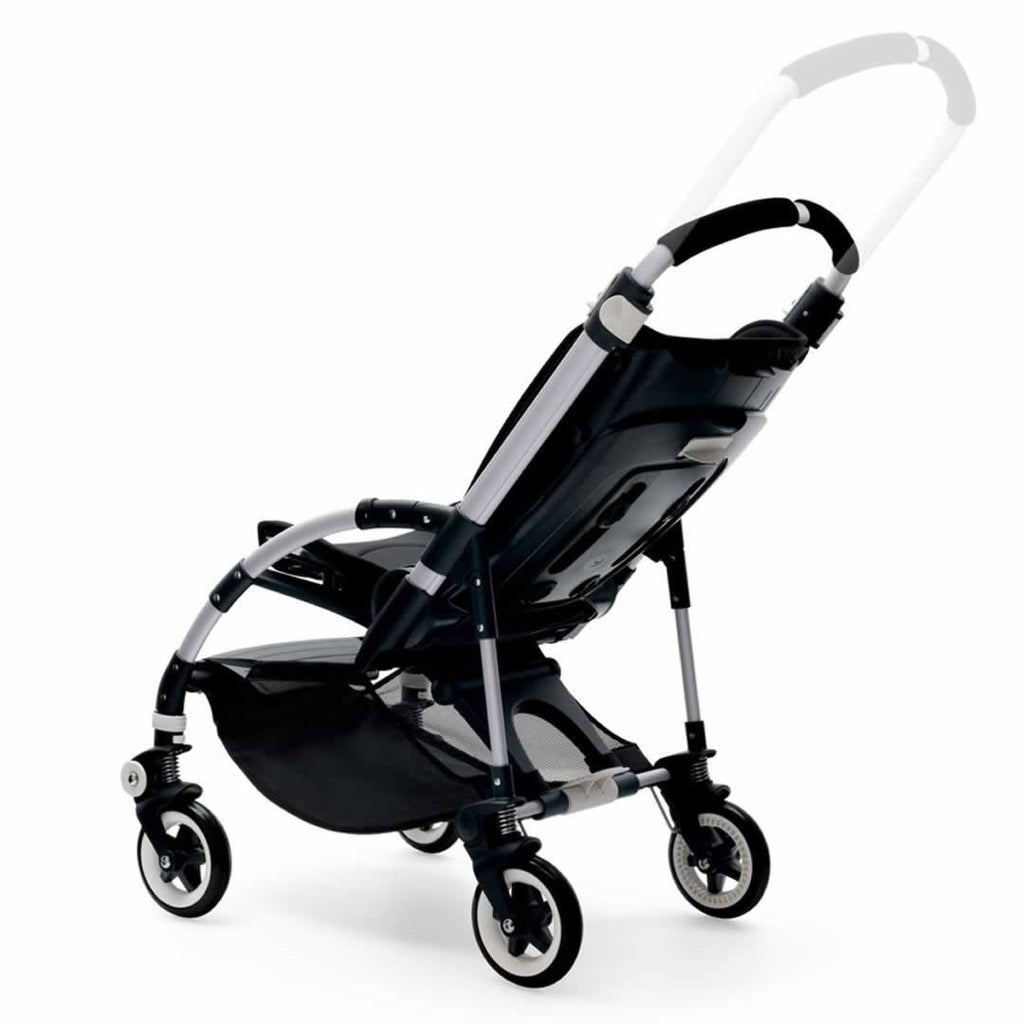 Bugaboo Bee3 Pushchair in Aluminium with Red Handle Bar