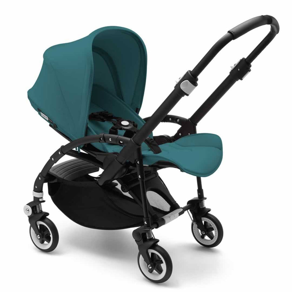 Bugaboo Bee3 Modern Pastel Pushchair - Petrol Blue Reclined
