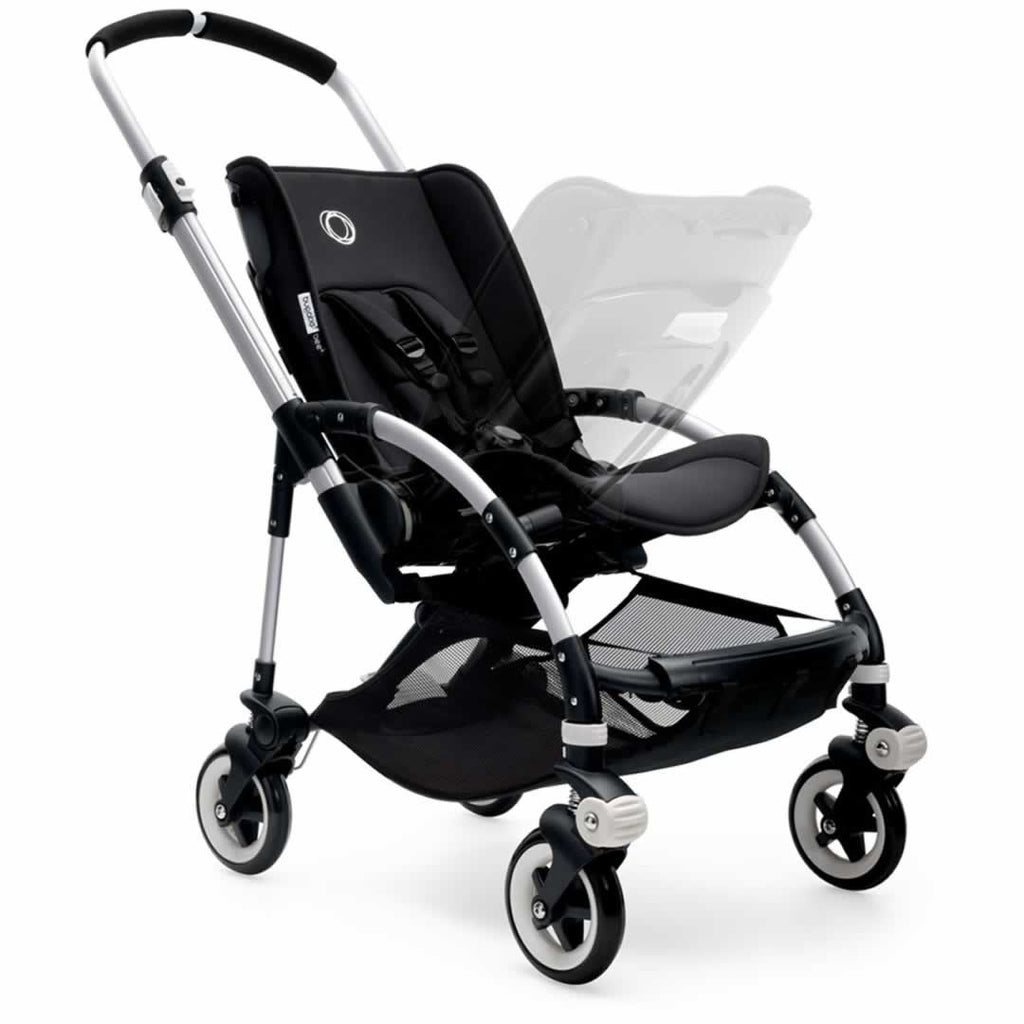 Bugaboo Bee3 Pushchair in Aluminium with Red Reversible Seat