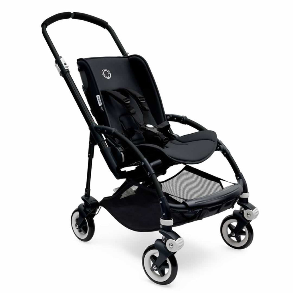 Bugaboo Bee3 Pushchair Black with Ice Blue Seat