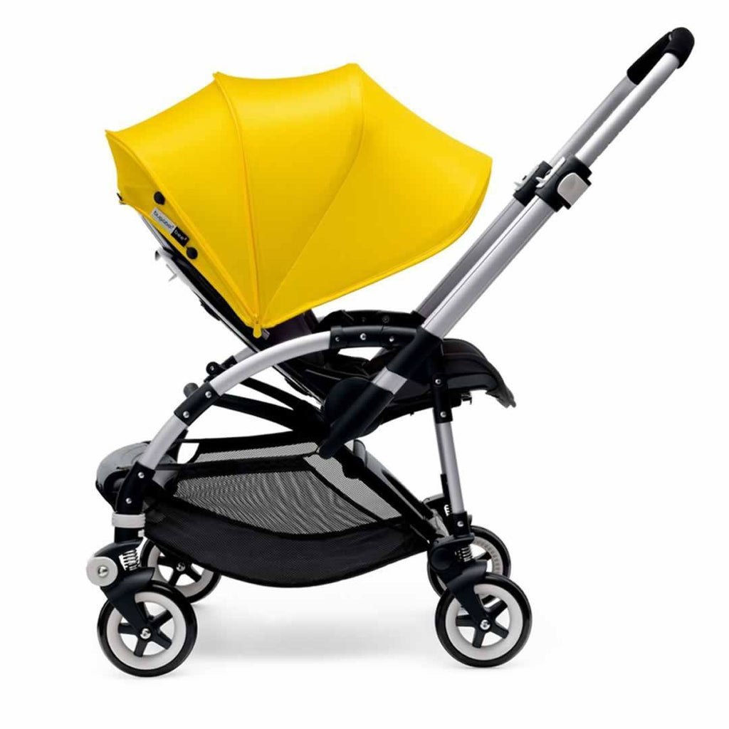 Bugaboo Bee3 Pushchair in Aluminium with Grey Melange Side