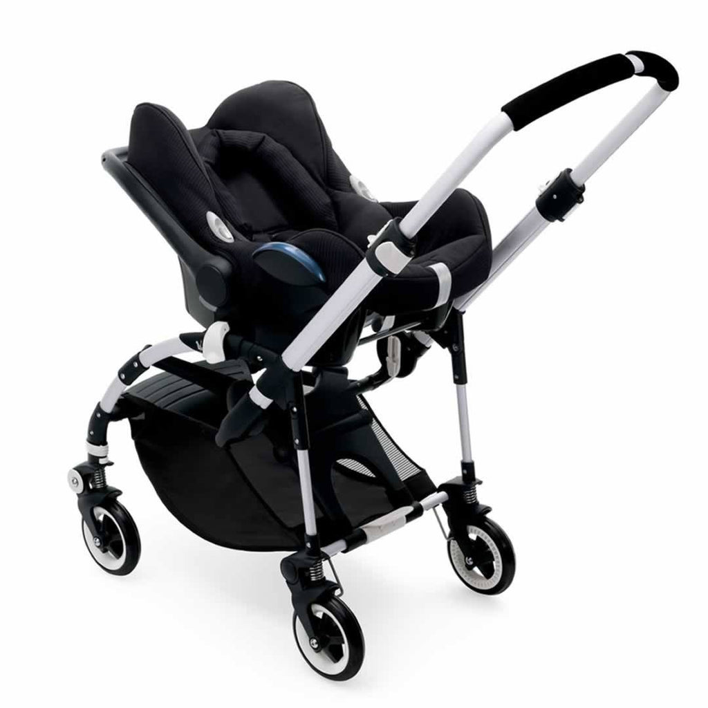 Bugaboo Bee3 Pushchair in Aluminium with Red Car Seat