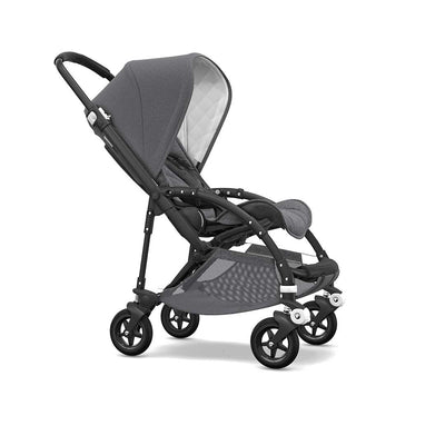 Bugaboo Bee5 Classic+ Pushchair - Black + Grey Melange-Strollers- Natural Baby Shower