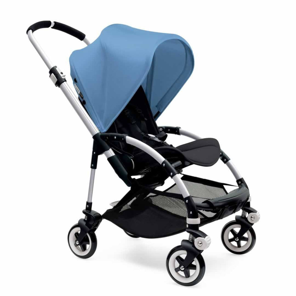 Bugaboo Bee3 Pushchair in Aluminium with Ice Blue
