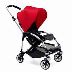 Bugaboo Bee3 Pushchair in Aluminium with Red