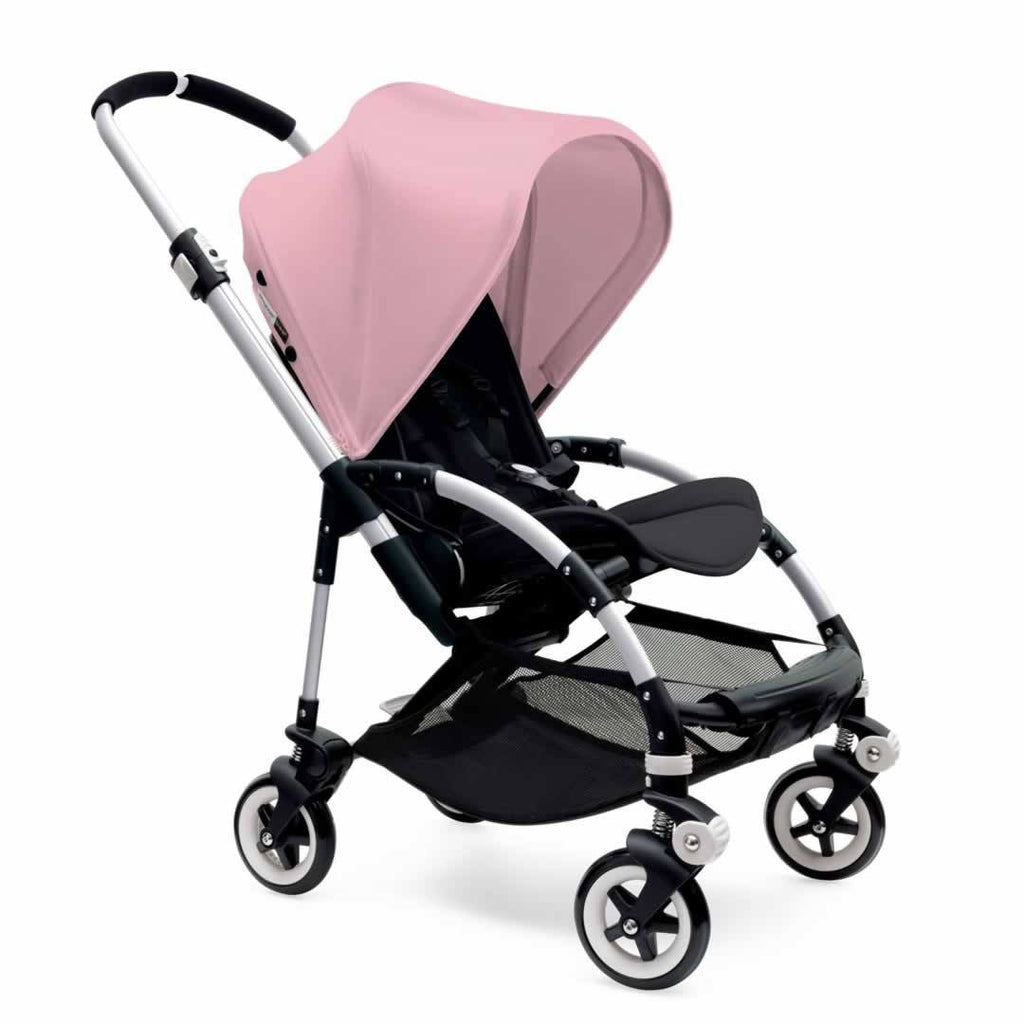 Bugaboo Bee3 Pushchair in Aluminium with Soft Pink