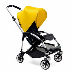 Bugaboo Bee3 Pushchair in Aluminium with Bright Yellow