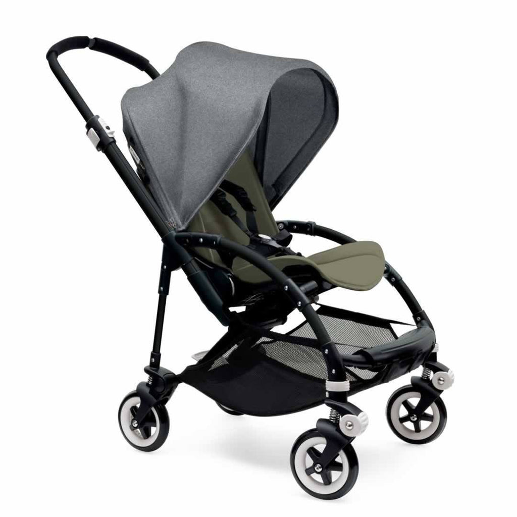 Bugaboo Bee3 Pushchair Black, Grey Melange & Dark Khaki