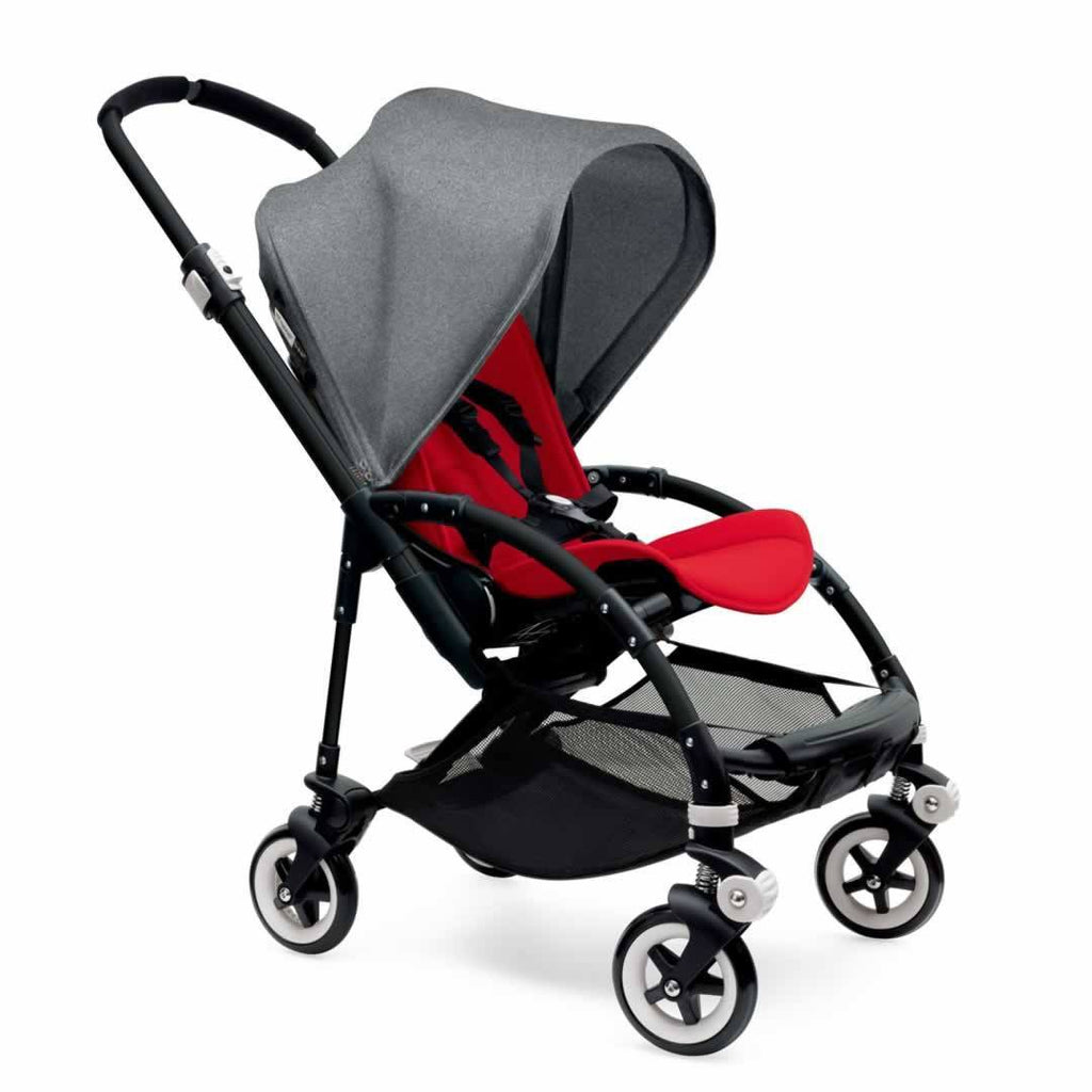 Bugaboo Bee3 Pushchair Black, Grey Melange & Red