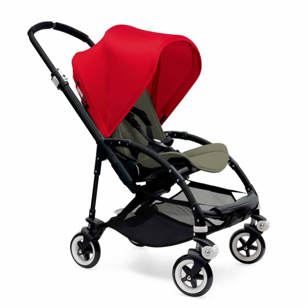 Bugaboo Bee3 Pushchair Black, Red & Dark Khaki