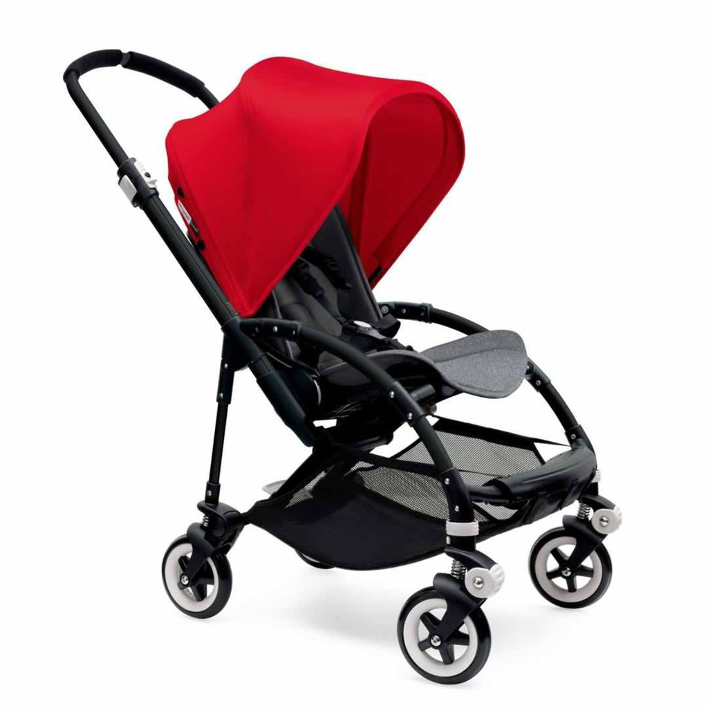 Bugaboo Bee3 Pushchair Black, Red & Grey Melange