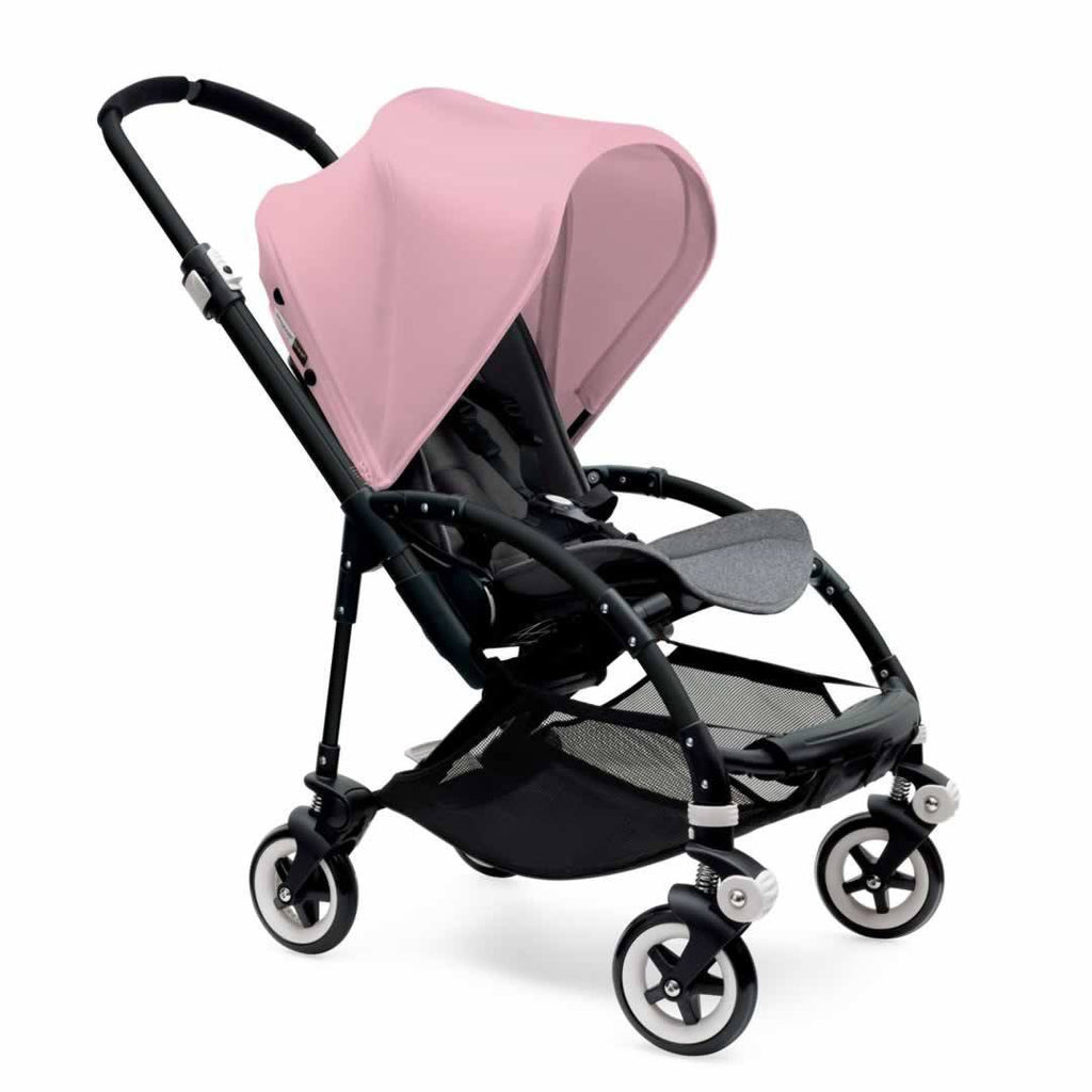 Bugaboo Bee3 Pushchair Black, Soft Pink & Grey Melange