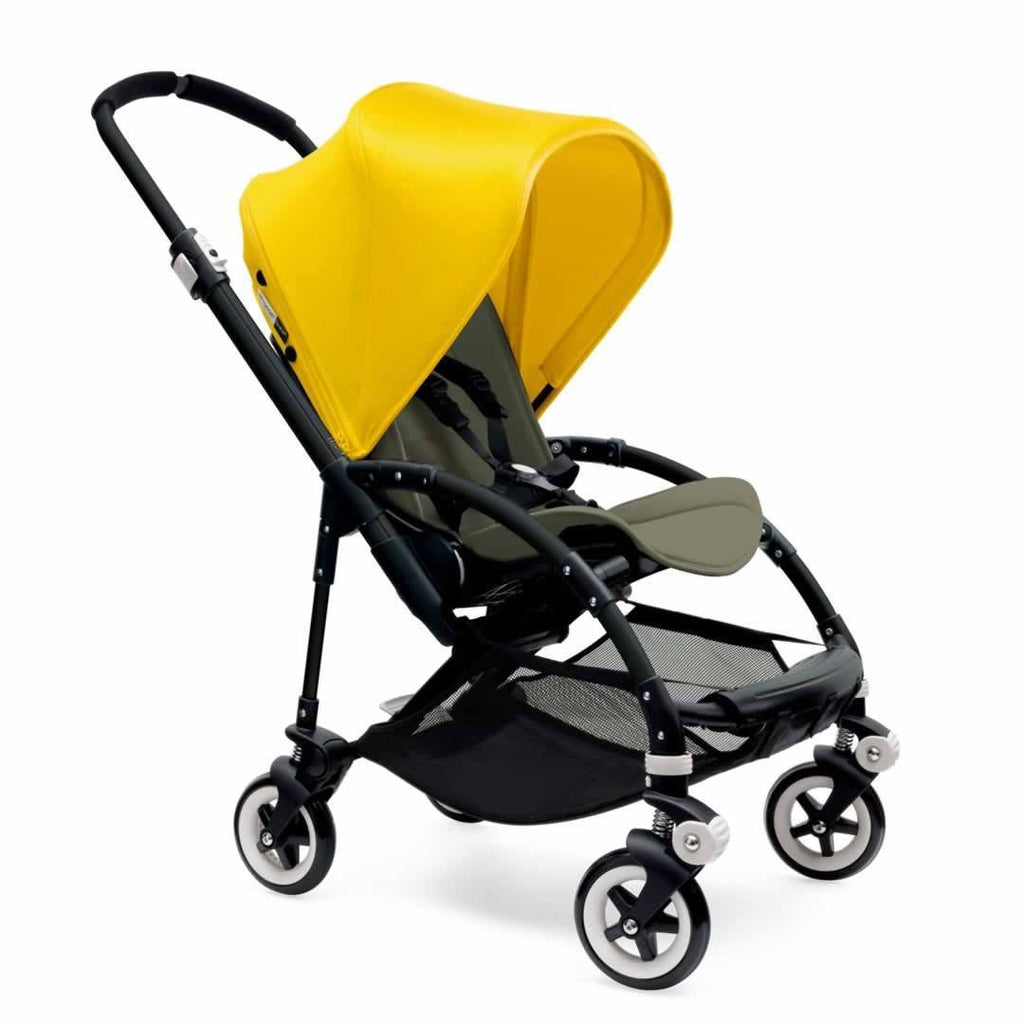 Bugaboo Bee3 Pushchair Black, Bright Yellow & Dark Khaki
