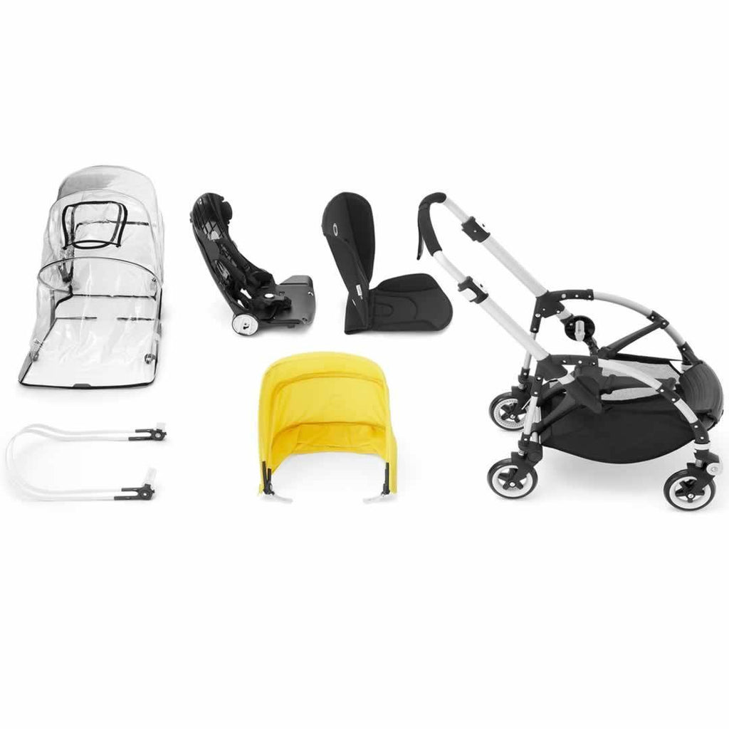 Bugaboo Bee3 Pushchair in Aluminium with Soft Pink What you Get