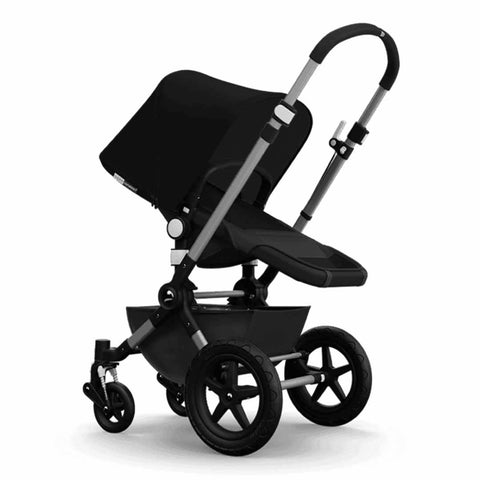 Bugaboo Cameleon3+ Pushchair - Aluminium/Dark Grey Chassis with Black - Strollers - Natural Baby Shower
