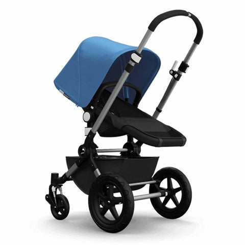 Bugaboo Cameleon3+ Pushchair - Aluminium/Dark Grey Chassis with Ice Blue - Strollers - Natural Baby Shower