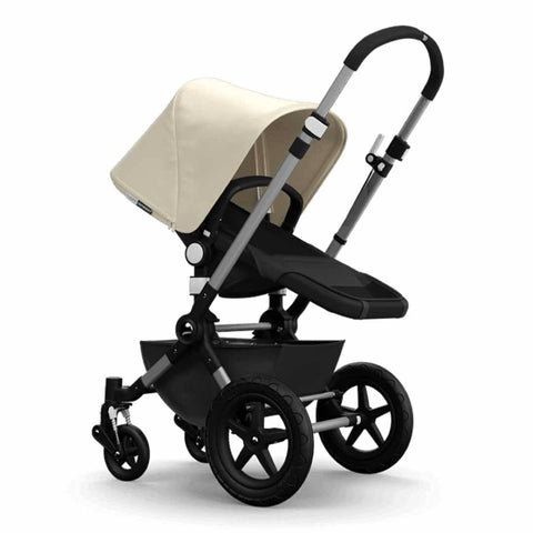 Bugaboo Cameleon3+ Pushchair - Aluminium/Dark Grey Chassis with Off White - Strollers - Natural Baby Shower