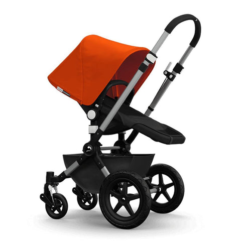 Bugaboo Cameleon3+ Pushchair - Aluminium/Dark Grey Chassis with Orange - Strollers - Natural Baby Shower