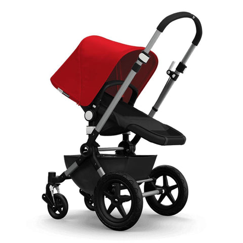 Bugaboo Cameleon3+ Pushchair - Aluminium/Dark Grey Chassis with Red - Strollers - Natural Baby Shower
