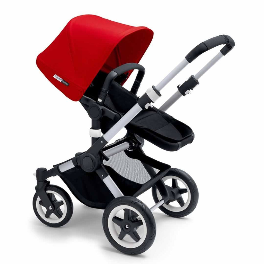 Bugaboo Buffalo+ Pushchair - Aluminium with Red - Strollers - Natural Baby Shower