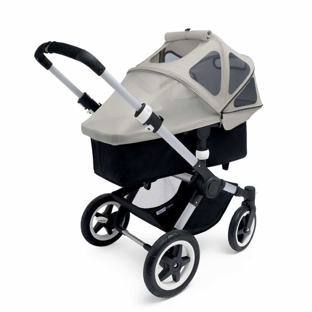 Bugaboo Buffalo Breezy Sun Canopy Dark Khaki on Carrycot