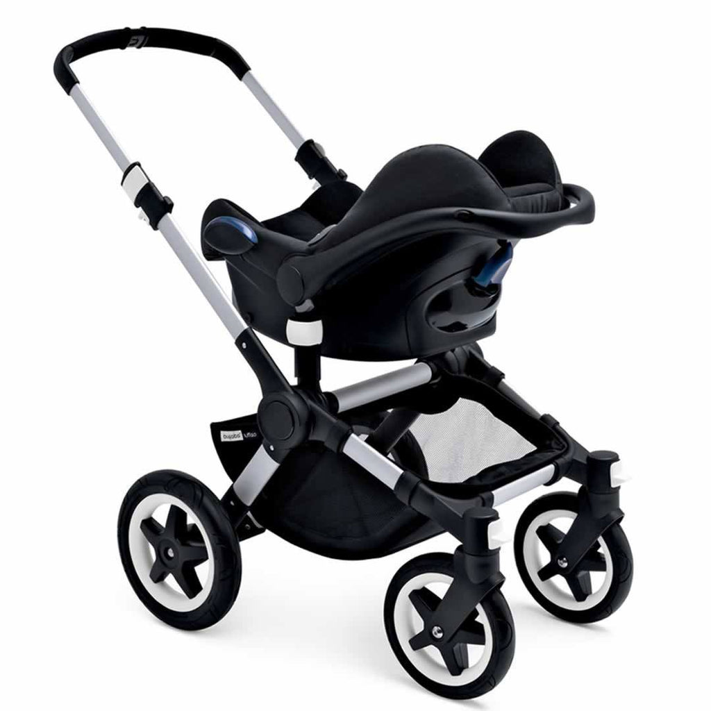Bugaboo Buffalo Pushchair in Black with Aluminium Car Seat