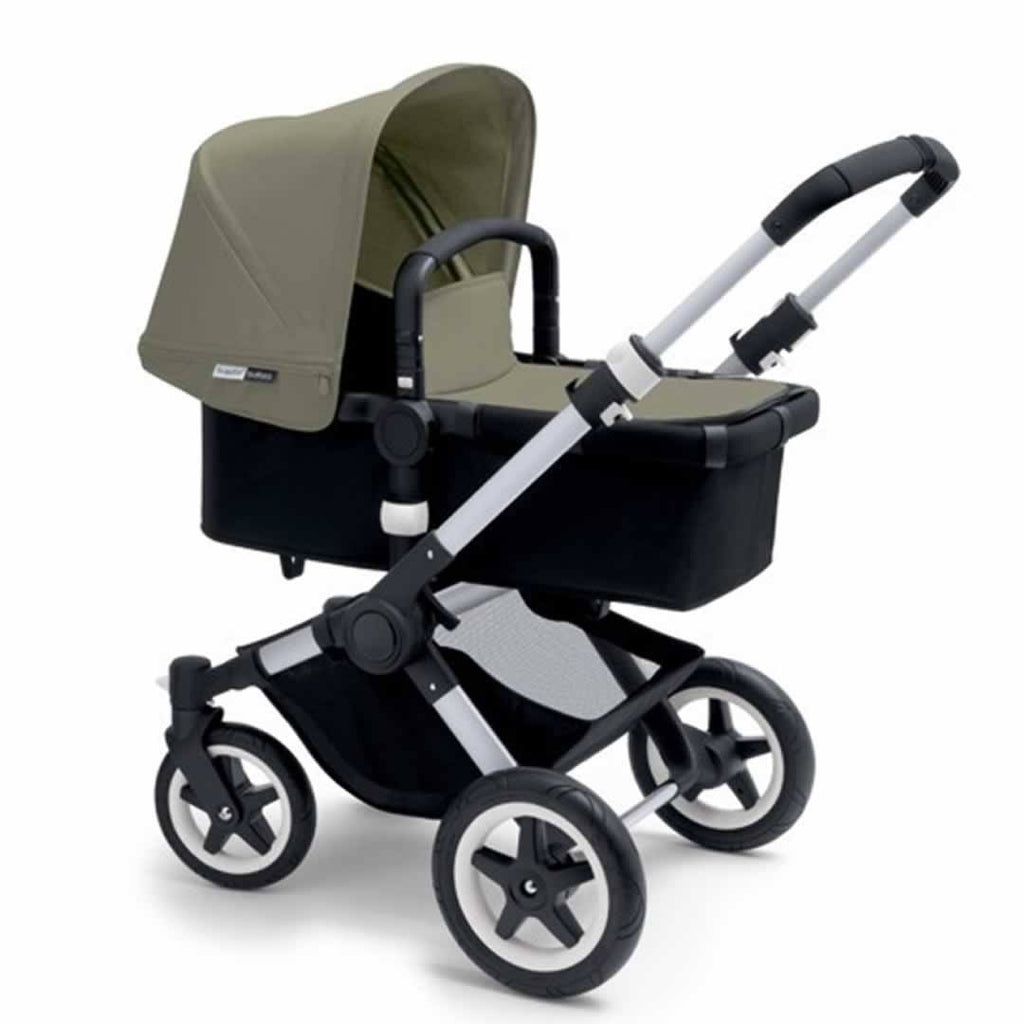 Bugaboo Buffalo Pushchair Dark Khaki with Aluminium