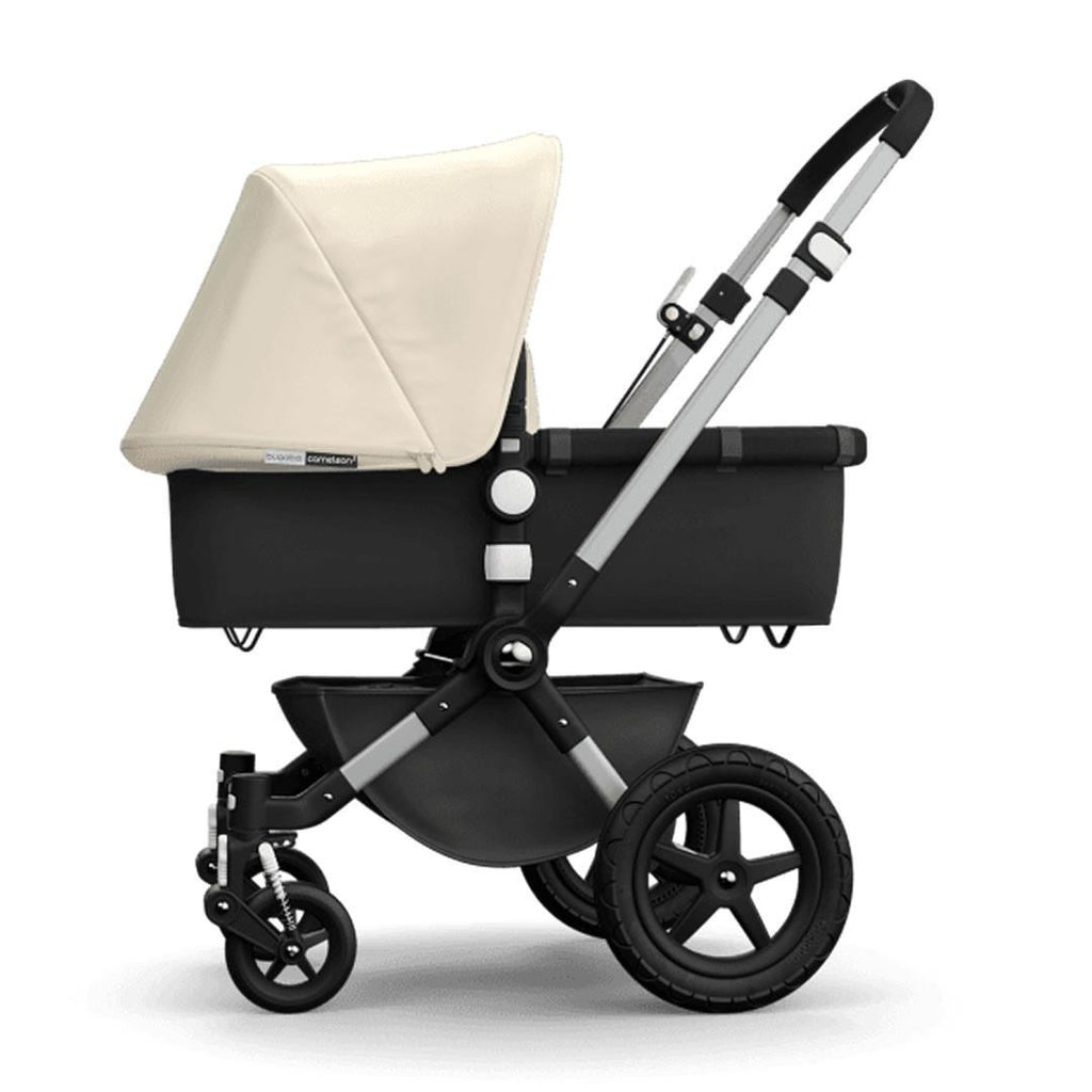 Bugaboo Cameleon3 Carrycot Aluminium + Dark Grey + Off White