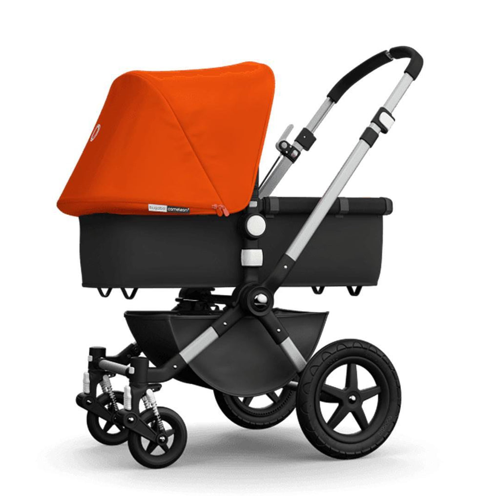 Bugaboo Cameleon3 Carrycot Aluminium + Dark Grey + Orange