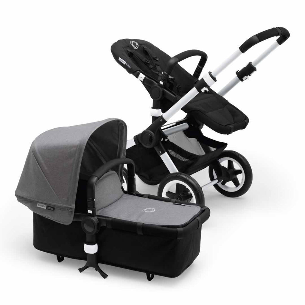 Bugaboo Buffalo Pushchair in Aluminium with Grey Melange