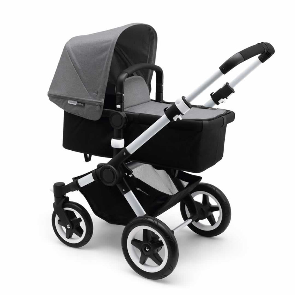 Bugaboo Buffalo Pushchair - Aluminium with Grey Melange