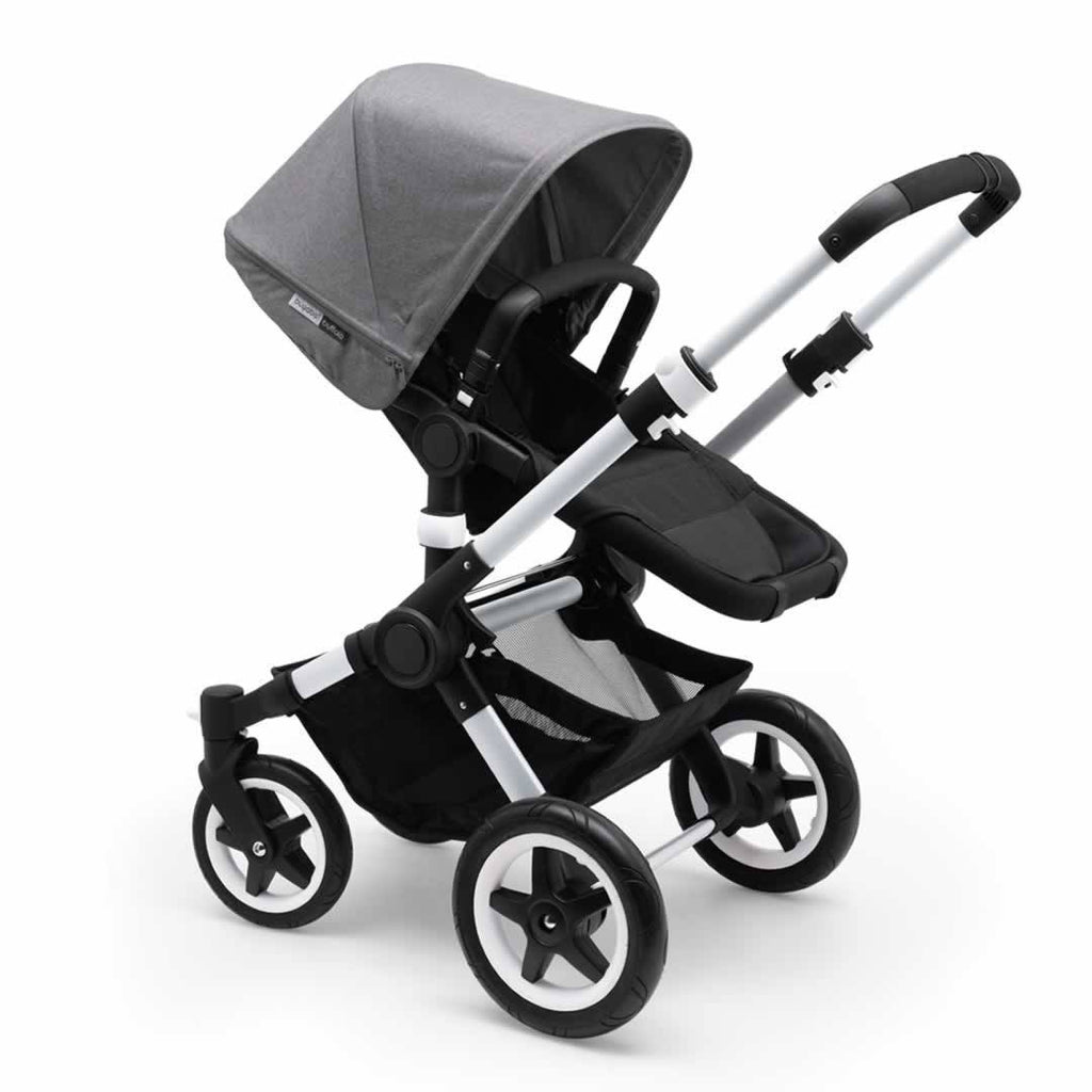 Bugaboo Buffalo Pushchair - Aluminium with Grey Melange (foam)