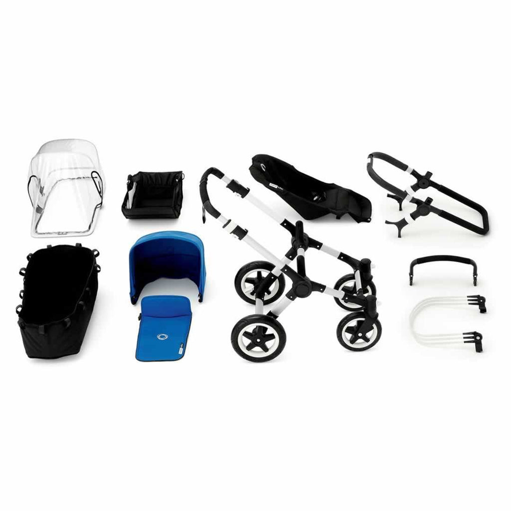 Bugaboo Buffalo Pushchair Black with Aluminium What you Get
