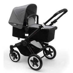 Bugaboo Buffalo Carrycot & Pushchair Black with Grey Melange