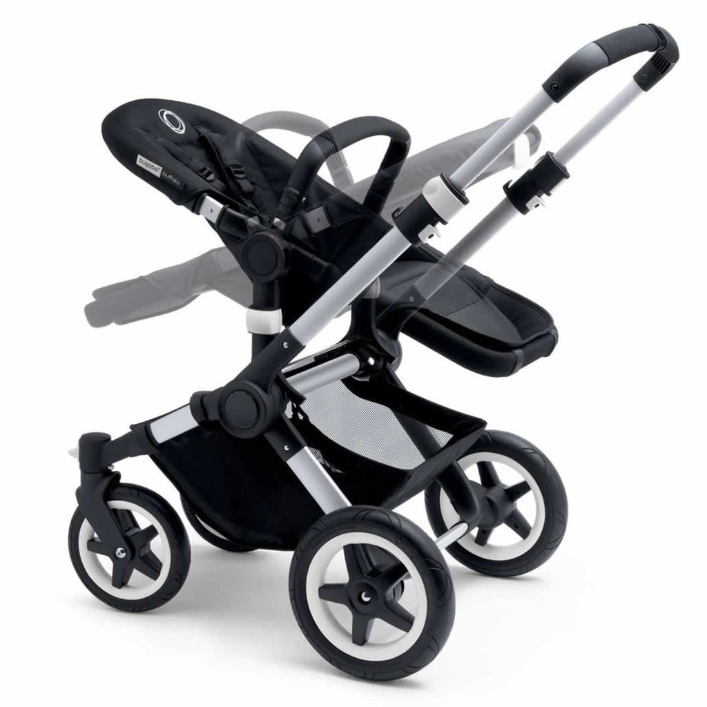 Bugaboo Buffalo Pushchair in Black with Aluminium Reclining Seat