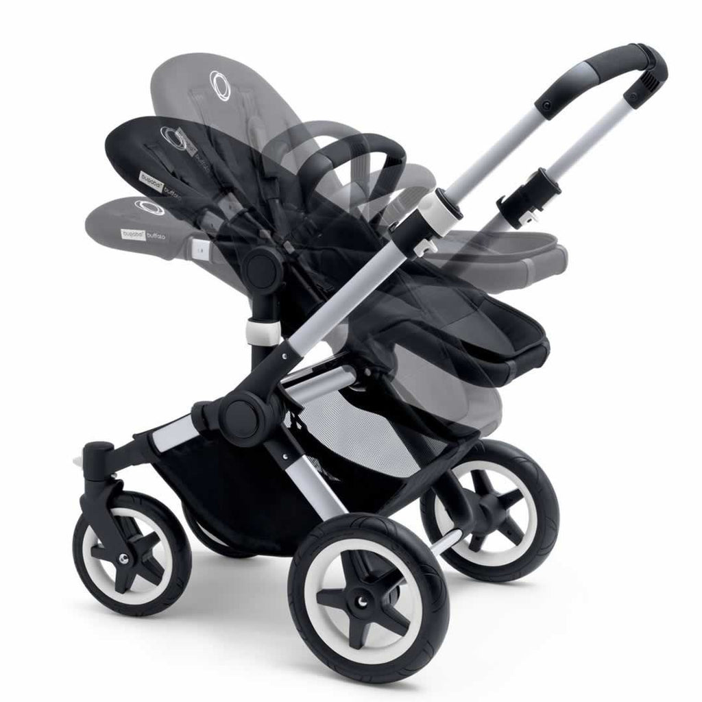 Bugaboo Buffalo Pushchair in Black with Aluminium Seat