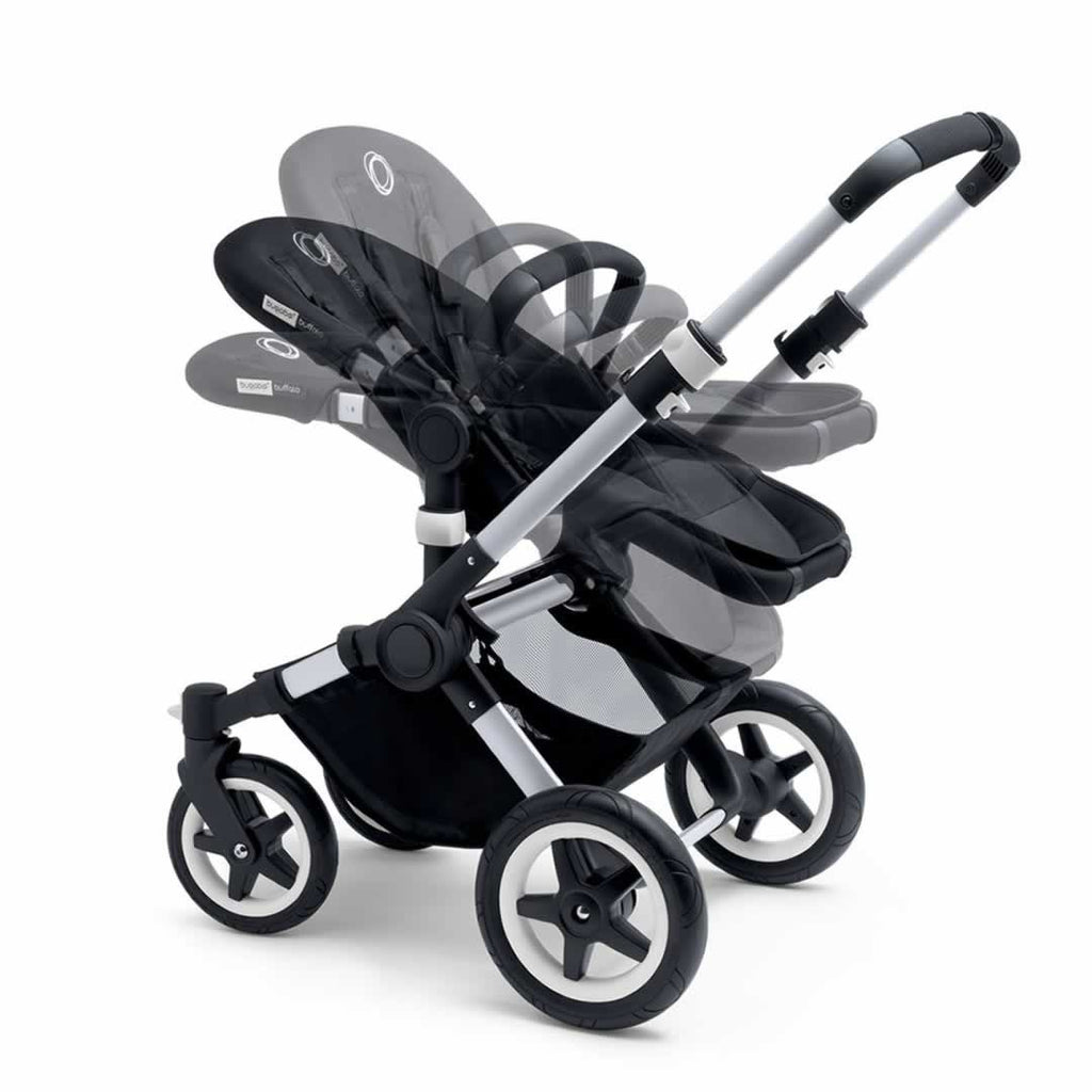 Bugaboo Buffalo Pushchair Aluminium with Grey Melange Seat