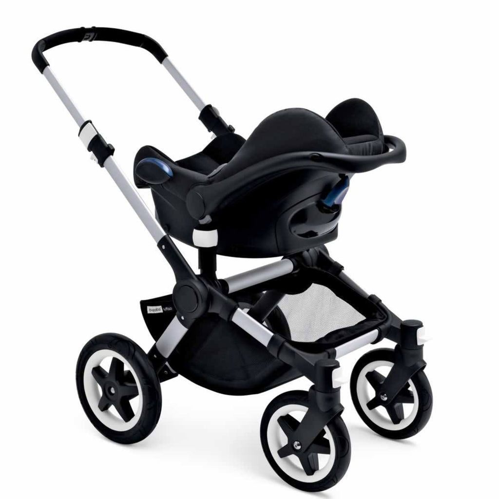 Bugaboo Buffalo Pushchair Aluminium with Grey Melange + Car Seat