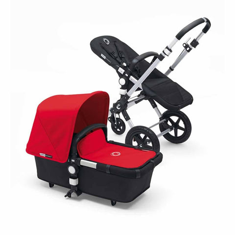 Bugaboo Cameleon3+ Pushchair in Aluminium + Black - Red