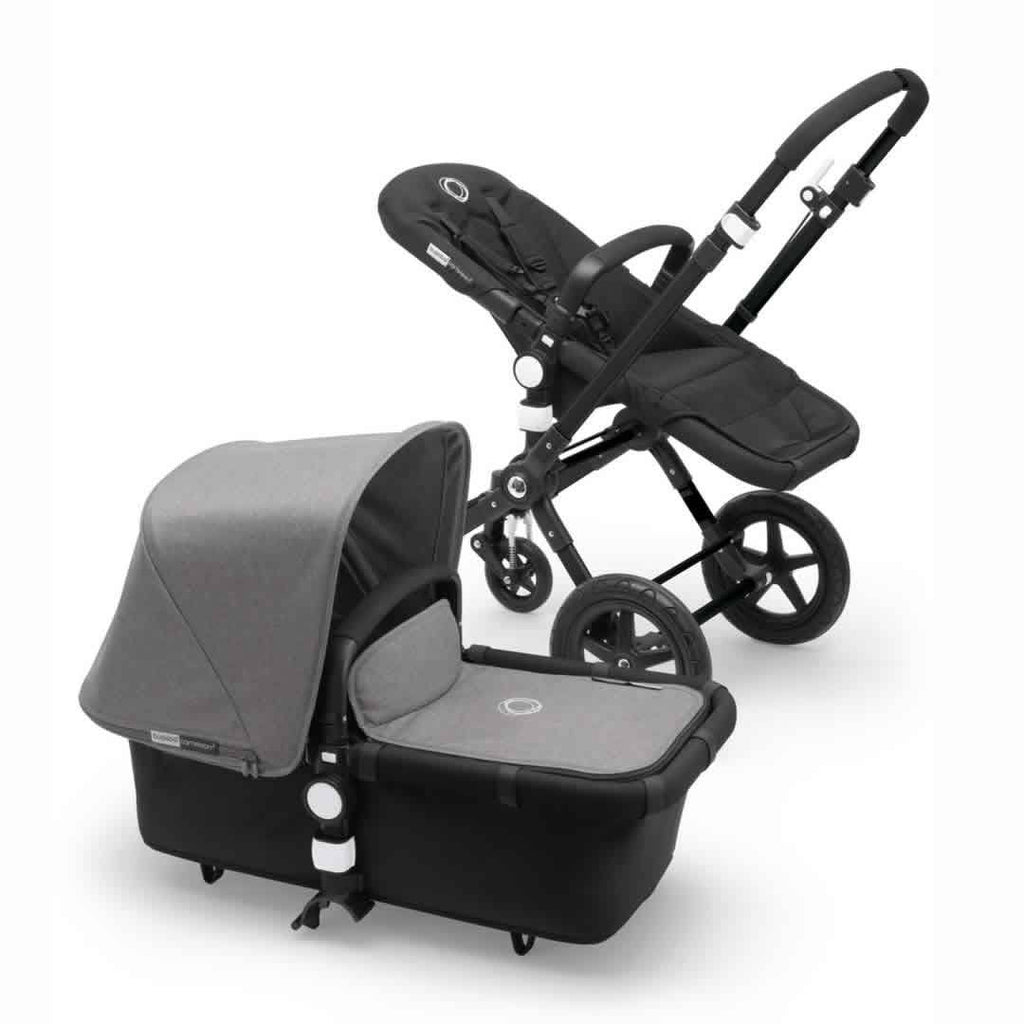 Bugaboo Cameleon3 Pushchair in Black + Black - Grey Melange