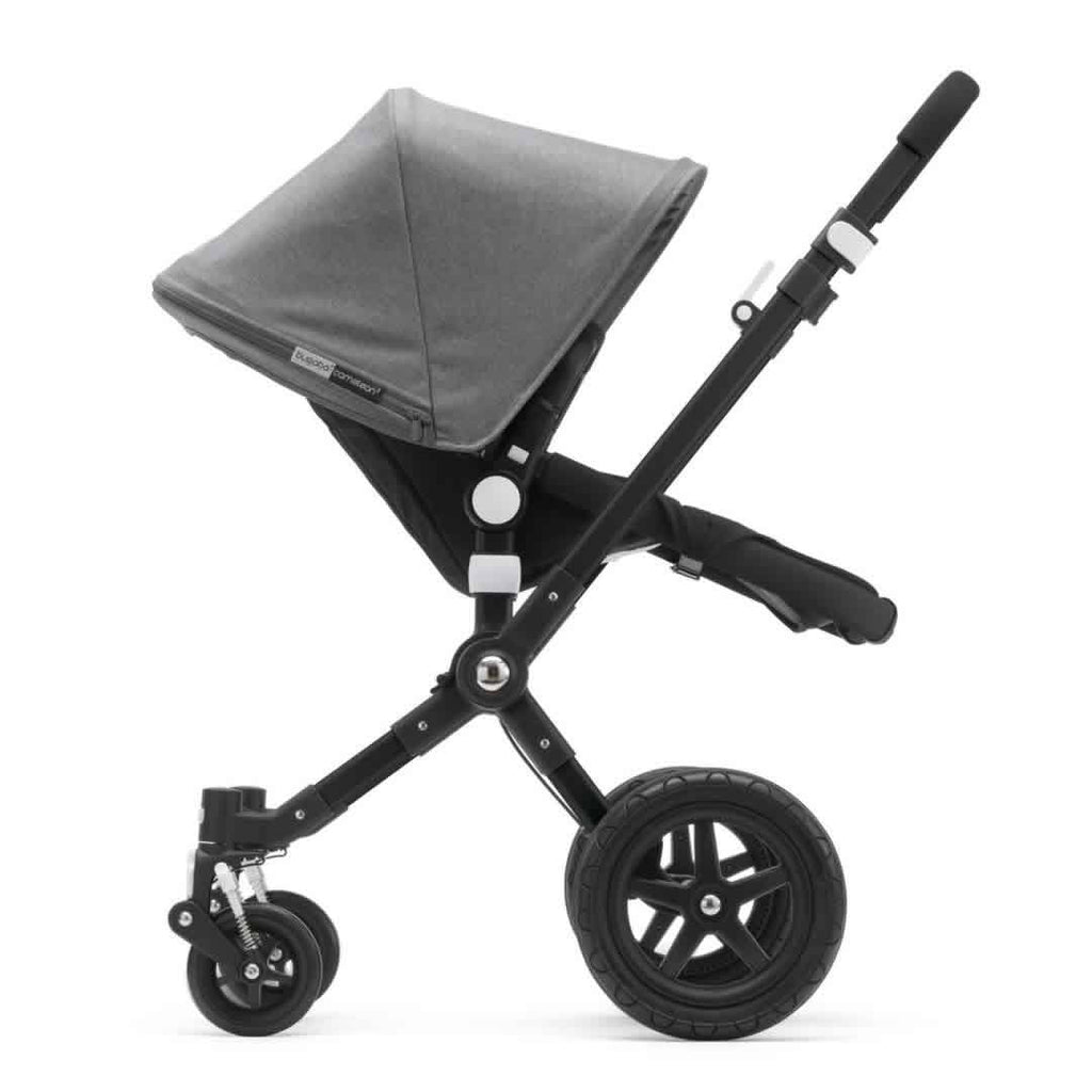 Bugaboo Cameleon3 Pushchair Black + Black Grey Melange Side