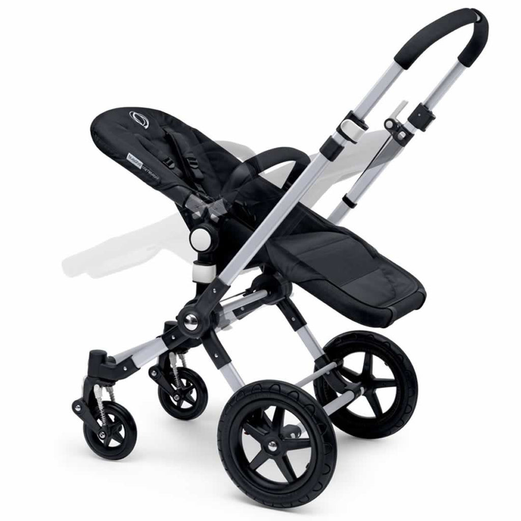 Bugaboo Cameleon3 in Aluminium + Black + Off White Reclining Seat
