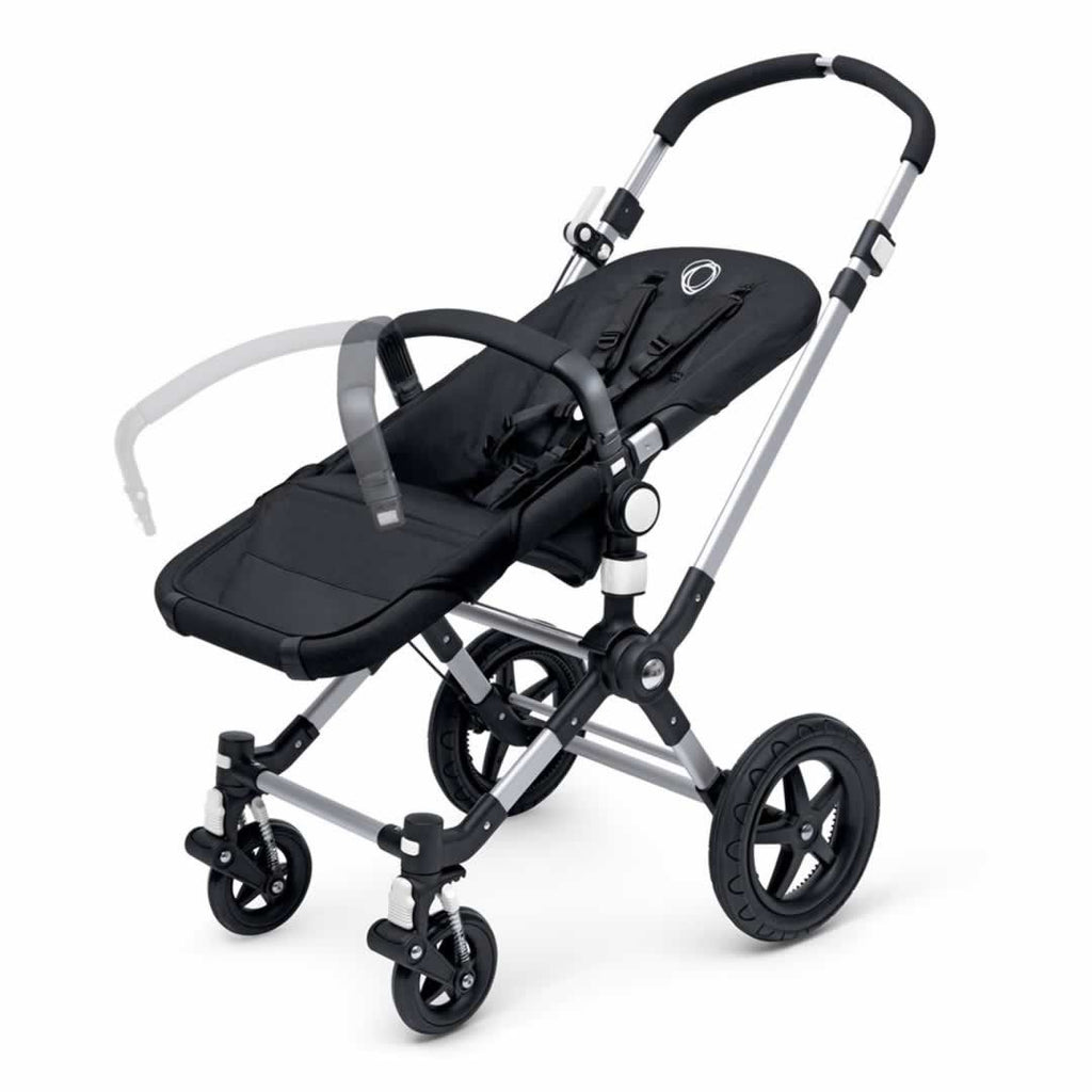 Bugaboo Cameleon3 Carrycot Aluminium + Dark Grey + Soft Pink Handle Bar