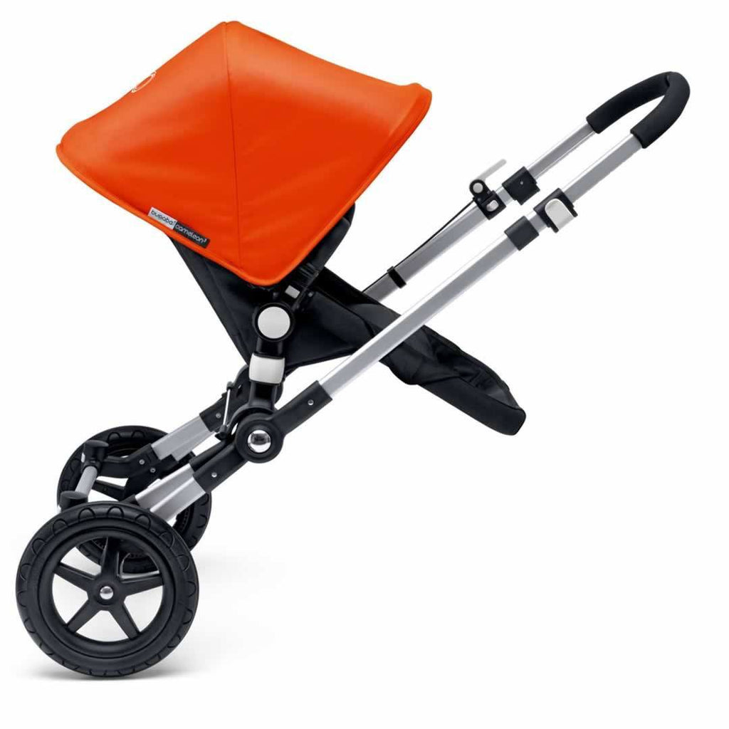 Bugaboo Cameleon3 Carrycot Aluminium + Dark Grey + Orange Wheels